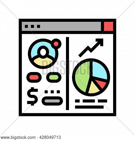 Opening Investment Account Color Icon Vector. Opening Investment Account Sign. Isolated Symbol Illus