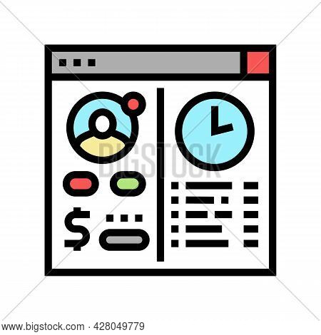 Opening Temporary Account Color Icon Vector. Opening Temporary Account Sign. Isolated Symbol Illustr