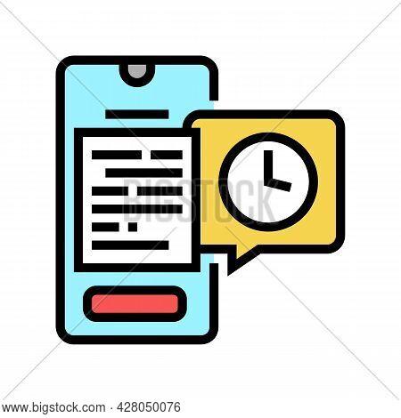 Digital Document Ephemeral Color Icon Vector. Digital Document Ephemeral Sign. Isolated Symbol Illus