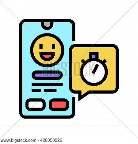 Emoji Offer Ephemeral Color Icon Vector. Emoji Offer Ephemeral Sign. Isolated Symbol Illustration