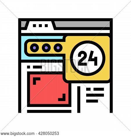 Image Web Site Ephemeral Color Icon Vector. Image Web Site Ephemeral Sign. Isolated Symbol Illustrat