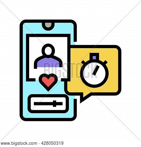 Friend Like Ephemeral Color Icon Vector. Friend Like Ephemeral Sign. Isolated Symbol Illustration