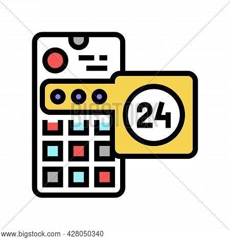 Social Media Story Ephemeral Color Icon Vector. Social Media Story Ephemeral Sign. Isolated Symbol I