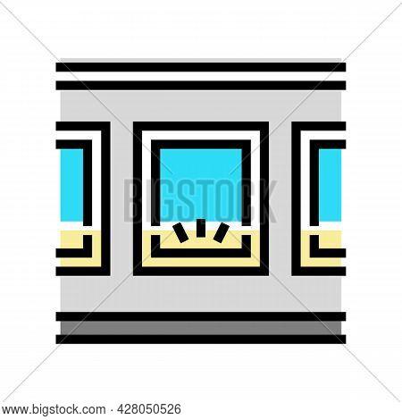 Windows Bottom Lighting Color Icon Vector. Windows Bottom Lighting Sign. Isolated Symbol Illustratio