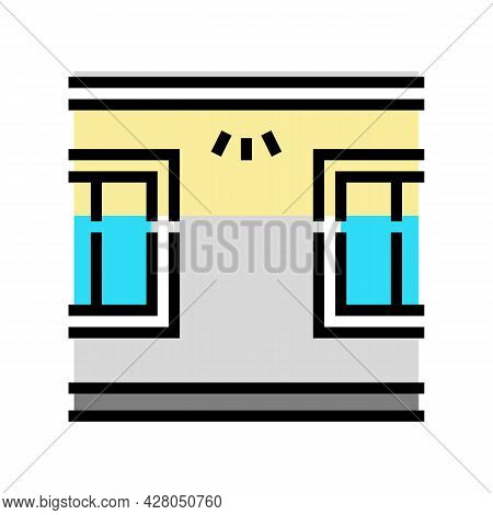 Windows Top Lighting Color Icon Vector. Windows Top Lighting Sign. Isolated Symbol Illustration