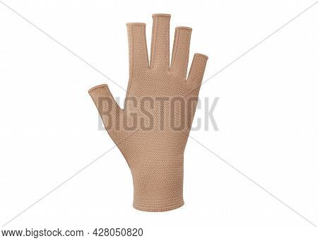 Сompression Gloves With Open Fingers. Compression Pressure On The Hand Against Edema. Prevention Aft