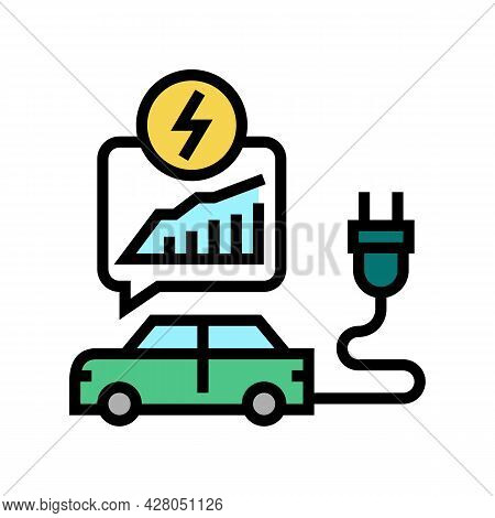 Energy Saving Transport Color Icon Vector. Energy Saving Transport Sign. Isolated Symbol Illustratio