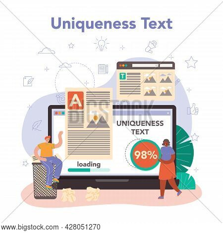 Copywriter Online Service Or Platform. Writing And Designing Texts