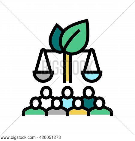Sustainable Development Color Icon Vector. Sustainable Development Sign. Isolated Symbol Illustratio