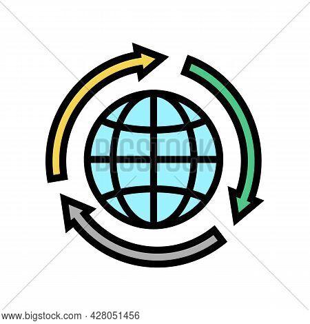 Environmental Protection Color Icon Vector. Environmental Protection Sign. Isolated Symbol Illustrat