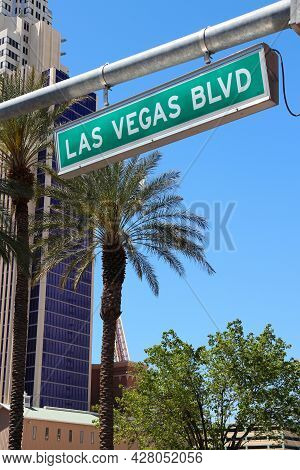 Las Vegas, Nevada. Las Vegas Boulevard Sign (the Strip).