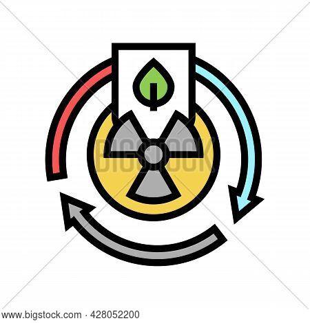 Hazardous Materials Management Color Icon Vector. Hazardous Materials Management Sign. Isolated Symb