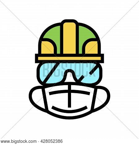 Individual Protection Means Color Icon Vector. Individual Protection Means Sign. Isolated Symbol Ill