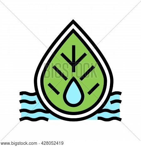 Quality Of Waste Water And Surrounding Water Color Icon Vector. Quality Of Waste Water And Surroundi
