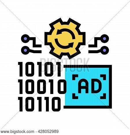 Omni Channel Advertisements Color Icon Vector. Omni Channel Advertisements Sign. Isolated Symbol Ill