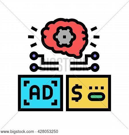 Programmatic Advertising Color Icon Vector. Programmatic Advertising Sign. Isolated Symbol Illustrat