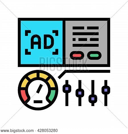 Optimization Of Advertising Color Icon Vector. Optimization Of Advertising Sign. Isolated Symbol Ill