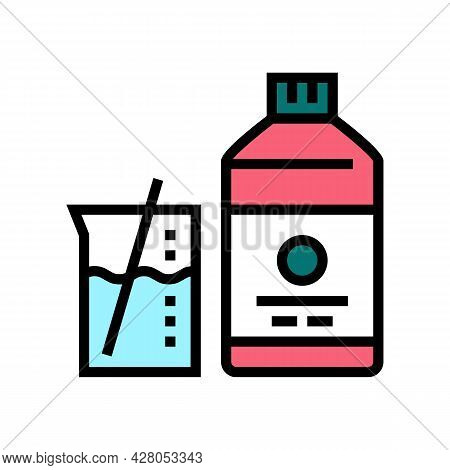 Mixing Liquid For Resin Art Color Icon Vector. Mixing Liquid For Resin Art Sign. Isolated Symbol Ill