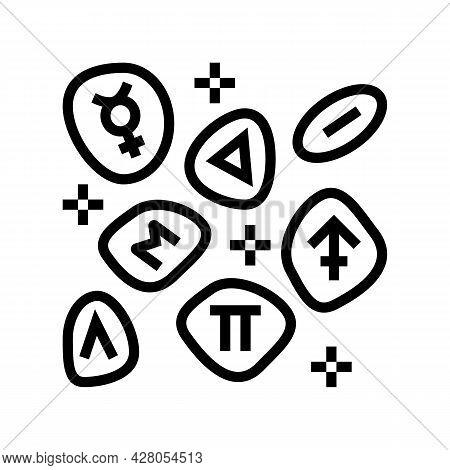 Stones Boho Line Icon Vector. Stones Boho Sign. Isolated Contour Symbol Black Illustration