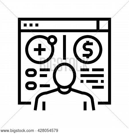 Opening Customer Accounts Line Icon Vector. Opening Customer Accounts Sign. Isolated Contour Symbol