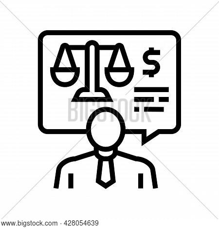 Advising Clients On Foreign Exchange Legislation Line Icon Vector. Advising Clients On Foreign Excha