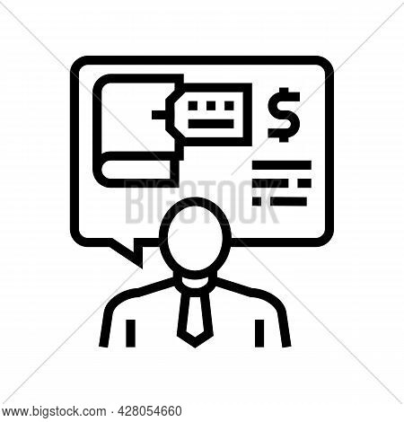 Advising Clients On Regulatory Issues Line Icon Vector. Advising Clients On Regulatory Issues Sign.