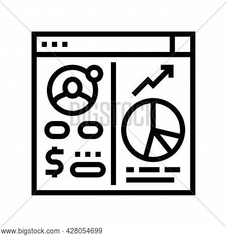 Opening Investment Account Line Icon Vector. Opening Investment Account Sign. Isolated Contour Symbo