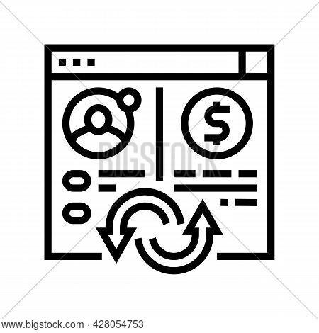 Money Transaction Line Icon Vector. Money Transaction Sign. Isolated Contour Symbol Black Illustrati