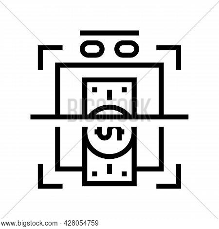 Verification Of Banknotes For Authenticity Line Icon Vector. Verification Of Banknotes For Authentic