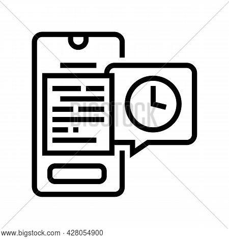 Digital Document Ephemeral Line Icon Vector. Digital Document Ephemeral Sign. Isolated Contour Symbo