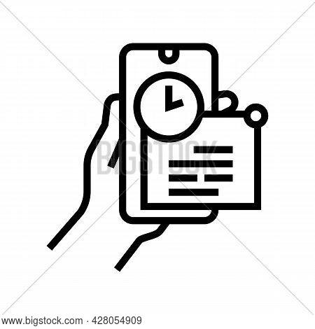 Message Ephemeral Line Icon Vector. Message Ephemeral Sign. Isolated Contour Symbol Black Illustrati