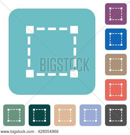 Selection Tool White Flat Icons On Color Rounded Square Backgrounds