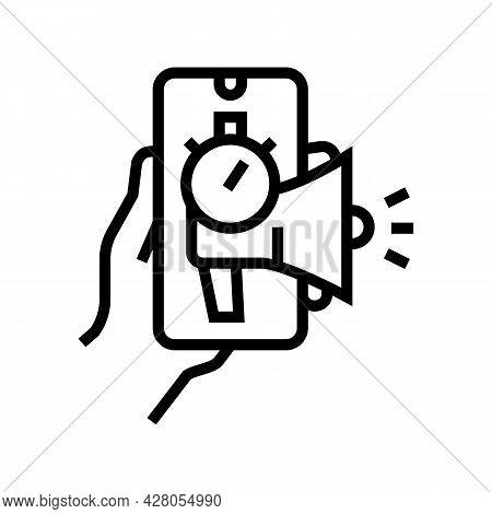 Advertising Ephemeral Line Icon Vector. Advertising Ephemeral Sign. Isolated Contour Symbol Black Il