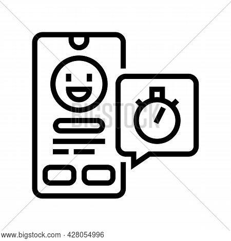 Emoji Offer Ephemeral Line Icon Vector. Emoji Offer Ephemeral Sign. Isolated Contour Symbol Black Il