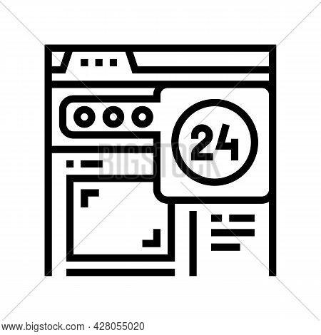 Image Web Site Ephemeral Line Icon Vector. Image Web Site Ephemeral Sign. Isolated Contour Symbol Bl