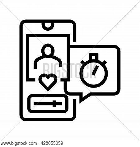 Friend Like Ephemeral Line Icon Vector. Friend Like Ephemeral Sign. Isolated Contour Symbol Black Il