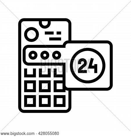Social Media Story Ephemeral Line Icon Vector. Social Media Story Ephemeral Sign. Isolated Contour S