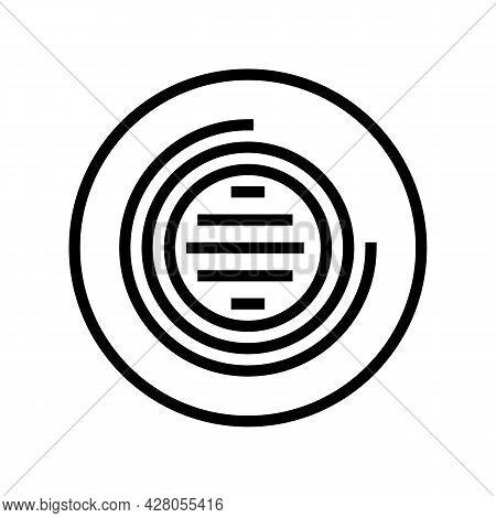 Led Lighting Line Icon Vector. Led Lighting Sign. Isolated Contour Symbol Black Illustration