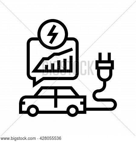 Energy Saving Transport Line Icon Vector. Energy Saving Transport Sign. Isolated Contour Symbol Blac