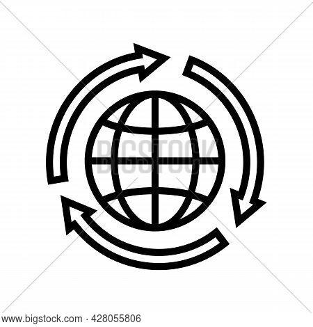 Environmental Protection Line Icon Vector. Environmental Protection Sign. Isolated Contour Symbol Bl