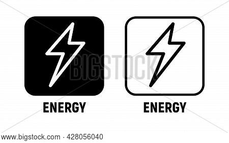 Energy Vector Icon Bolt Lighting Power Electric Battery