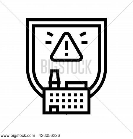Special Hazardous Environments Line Icon Vector. Special Hazardous Environments Sign. Isolated Conto