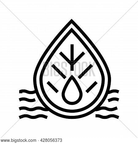 Quality Of Waste Water And Surrounding Water Line Icon Vector. Quality Of Waste Water And Surroundin