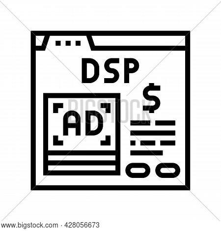 Digital Signal Processor Line Icon Vector. Digital Signal Processor Sign. Isolated Contour Symbol Bl