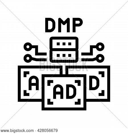 Data Management Platform Line Icon Vector. Data Management Platform Sign. Isolated Contour Symbol Bl