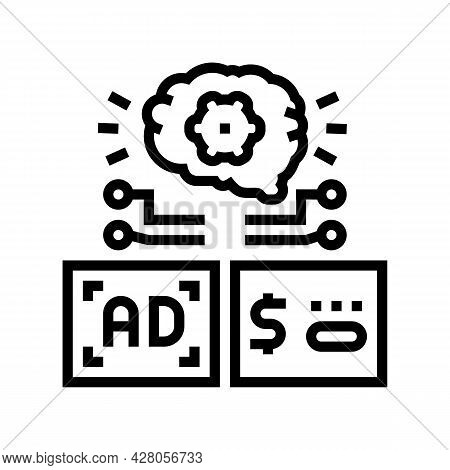 Programmatic Advertising Line Icon Vector. Programmatic Advertising Sign. Isolated Contour Symbol Bl