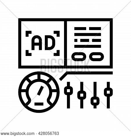 Optimization Of Advertising Line Icon Vector. Optimization Of Advertising Sign. Isolated Contour Sym