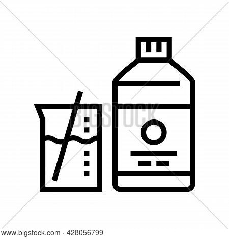 Mixing Liquid For Resin Art Line Icon Vector. Mixing Liquid For Resin Art Sign. Isolated Contour Sym