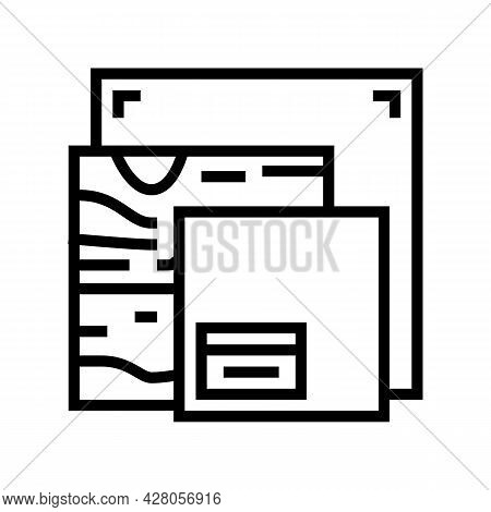 Canvas And Material Resin Art Line Icon Vector. Canvas And Material Resin Art Sign. Isolated Contour