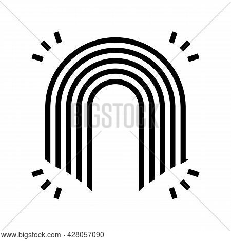 Rainbow Boho Glyph Icon Vector. Rainbow Boho Sign. Isolated Contour Symbol Black Illustration